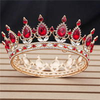 30 Options Crystal Tiaras Bride Wedding Crown Royal Queen King Round Diadem Bridal Headpiece Pageant Hair Jewelry Head Accessory Y200807