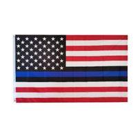 3x5FT Thin Blue Line Red Line Flags 6 Styles Polyester-Flagge US-Polizei Feuer Respekt und Ehre Banner Flaggen CCA12503 60pcs