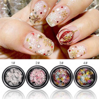 Christmas Nail Rhinestones Decoration Nail Decals Christmas Series 3D Nail Art Decorations Nails Glitter Powder Snowflake