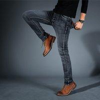 2020 cholyl hommes Midweigth stretch Spandex Denim Jeans Slim Fit Pantalon Jean bleu et noir couleurs d'affaires hommes