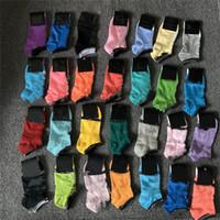 Cotton Sport Cheerleaders calzini rosa neri calzini blu Sport calzino corto delle donne delle ragazze di colore rosa Skateboard Sneaker calze con