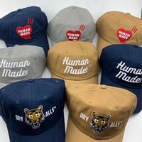 Gorra de béisbol de bordado hechos humanos para hombres Mujeres Hip Hop Trucker Papá Hat Snapback Caps de verano Playa Golf Sun Visor Ajustable Verano Casual