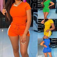 2020 Лето новых женщины моды случайных спортивных костюма женских из двух частей набора 1