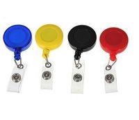 Выдвижного Ski Pass ID Card Знак держатель Key Chain Ring Катушка брелок с зажимом бесплатной доставкой Pass ID карты Badge Holder