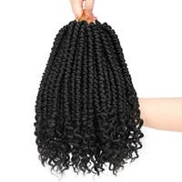 세네갈 트위스트 헤어 익스텐션 Ombre 합성 헤어 땋은 가짜 로브를위한 가짜 주요 끈 끈 머리털 머리 솜털 60g / 팩