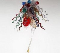Bedroom Blown Cheap Glass Chandelier Dale LED Saving Light Source Chihuly Style Murano Glass Mini Chandelier