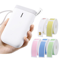 D11 Imprimante d'étiquettes sans fil Imprimante Pocket Pocket Pocket imprimante Bluetooth Sticker thermique Imprimantes Impression rapide Home Bureau Prise en charge de nombreuses langues