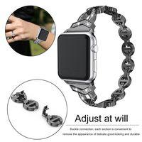 LuxuxEdelstahl Uhrenarmbänder für Apl Uhr 38mm 42mm Diamant-Armband-Metallschnalle-Bügel für I-Uhr-Serie: 5 4 3 2 1