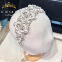 Nueva Rhinestone Tiara cristalina más largo Tamaño diadema real de la boda plateado / oro de novia Vestir Corona de accesorios Mujeres joyería
