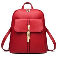 Fashion Women Backpack PU Leather Youth Leather Backpacks fo...