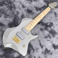 2020 Özel 8 Dizeleri Iban Elektro Gitar Altın Donanım Ile Akçaağaç Klavye Boyun 5 Yazım