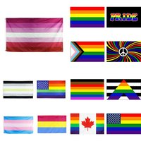 LGBT العلم مثليه أعلام الفخر المثليين غاي العلم قوس قزح العلم 90 * 150CM لا جنس agender راية XD23906