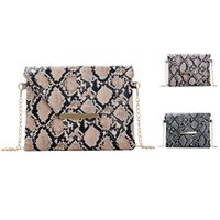 2020 new fashion luxury women designer Snake Pattern Woman Handbag Female Crossbody Bag Leather Shoulder Bags High Capacity Clutch Phone Bag