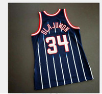 Özel Erkekler Gençlik kadınlar Vintage Hakeem Olajuwon Mitchell Ness 96 97 Koleji Basketbol Jersey Boyut veya özel herhangi bir ad veya numara formayı-4XL S
