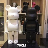 Popular 1000% 70cm Bearbrick Evade Glue Preto. Figuras de urso branco e vermelho brinquedo para colecionadores ser @ RBrick Art Work Modelo Decorações Presente de crianças