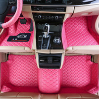 Custom Fit Car Floor Mats Specific Waterproof PU Leather ECO...