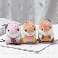 Chaveiros Little Plush Hamster Keychain Chaveiro Fofo Fluffy Animal Keyring Mulheres Meninas Bolsa Backpack Pendurado Charme Pingente