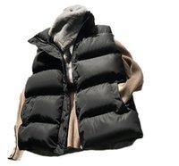 Gilet da donna in cotone down gilet donna 2021 inverno allentato tutto match giacca senza maniche in vita femmina cappotto
