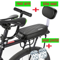 Fahrrad Sattel Fahrrad Rücksitz mit Rückenlehne Kind Sicherheit Griff Armlehne Fußstütze Pedal