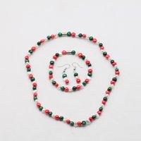 Пресноводные культивированный Жемчужное ожерелье Комплект включает Потрясающая браслет и серьги падения ювелирные изделия для женщин 6мм жемчужные украшения Магнит набор 15 цветов