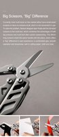 Freeshipping 16 en 1 multi funcional alicates de acero plegable cuchillo de la herramienta EDC manual de acero de herramienta del destornillador y abridor azul Mini Box
