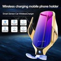 R9 Kablosuz Şarj Akıllı Sensör Araba Telefon Oto Tutucu 10 W Hızlı Şarj Klip Tutucu Samsung Huawei Xiaomi Android Seçmek için 3 Renkler