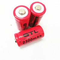 litio CR123 / GTL 16340 2300mAh 3.7V Batteria ricaricabile di trasporto