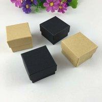 50pcs / lot de la joyería de la cinta de alta calidad de la manera caja, cajas anillo de papel, caja de pendientes / colgante 4 * 4 * 3 Pantalla regalo caja de embalaje MX200810