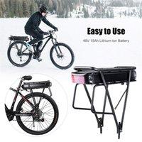 Elektro-Fahrrad-Batterie 48V 15Ah Gepäckträger Battery Pack Big Kapazität E-Bike Handy-Gepäckträger Fahrrad mit Ladegerät für 500W 750W Motor-Set
