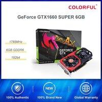 1660 placa gráfica colorida GeForce GTX SUPER 6G 1785MHz / 14Gbps GDDR6 Gaming com dupla Fan Placas de Vídeo