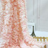 Fleur de soie Design Unique Design De Mariage De Mariage Décoration Orchidée Fleur Silk Silk Wisteria Vigne Couronnes Artificielles Blanc Tir de la photo Props
