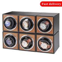 Montres deplacer pour les montres automatiques unique Montre en bois Accessoires Boîte Montres Rangement Luxury CX200807
