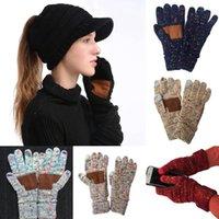 2020 Guantes de invierno de punto de lana de 15 colores Stretch pantalla táctil caliente Guante aire libre que monta los guantes mitones DDA591