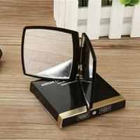 C كلاسيك طي ضعف الجانب مرآة التجميل المحمولة HD المكياج مرآة وعدسة مكبرة مع فلنلت BagGift صندوق للعميل VIP