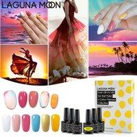 Lagunamoon Caribbean Sunset 6PCS / kit Gel Nail Polish Set LED UV Soak Off Varnish Laca Manicure Semi prego Permanente Artes Set
