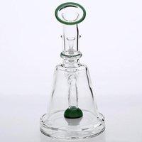Imagens reais mini bongos de vidro vidros green bongs tubos de água espessa base fumar tubos artesanais artesanais