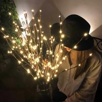 Lámpara de rama de sauce LED 20 bulbos Batería con motor de cadena de cadena de cadena de cadena de sauce de sauce Twig Rama de luz Party Party Decoración de Navidad
