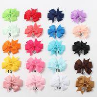 Bebek Saç Yay Kızlar Tokalar Grogren Kurdele Bağları Çocuklar Şeker Renk Saçlar Klipler Hairwear Çocuk Butik Hairbows Askı YFA2511