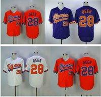 Männer Jugend Frauen Genähte Clemson Baseball Jersey 28 Seth Bierfarbe Weiß Violett Orange Jerseys gute Qualität Freies Verschiffen 09