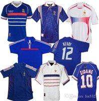 Best 2002 1996 2000 1998 2006 Francia Retro Kids Camiseta de fútbol Jersey 2004 Trézéguet Zidane Henry Maillot deleva Ribery Djorkeeff Shirt