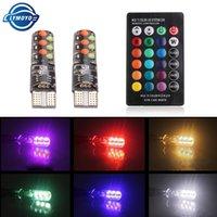 50set T10 W5W RGB LED Birnen-12SMD COB canbus 194 168 Auto mit Fernbedienung Flash / Strobe Lese Keil-Licht-Umrissleuchten