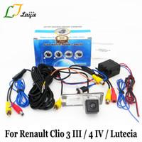 Caméra arrière pour Clio 3 4 III IV / Lutecia 2005 ~ 2020 / Avec relais de puissance HD Grand Angle de recul Parking voiture de la caméra