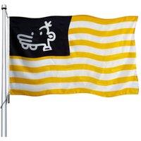 New American Manny Heffley Flagge, National 100D Polyester-Drucken-Gewebe Werbeflaggen Fahnen, freies Verschiffen, Gewohnheit 3x5ft Flags