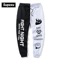 SUPZXU Imprimer Pantalon taille haute cheville blanc Streetwear Joggers Hommes Femmes Hip Hop Pantalons Automne Hiver