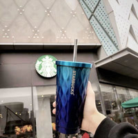 Starbucks Cup mit LOGO 2020 Starbucks Ferien Gradient Farbe Tumbler Kalter Cup 16,9 Unzen Topper Cold Water Cup mit Deckel