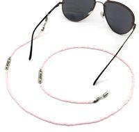 موضة جديدة 70CM الفضة إلكتروني الحب سلسلة شنقا الخرز الوردي النظارات المصنوعة يدويا سلسلة النظارات الشمسية الحبل الجملة