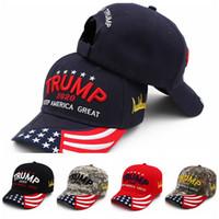 Donald Trump Cappello di baseball 2020 US Election Keep America Grande ricamo camuffamento Trucker Snapback Outdoor Sports Visor Cap LJJP368