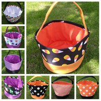 Halloween Bucket Gift Wrap Girls Boys Child Candy Collection Bag Halloween Handbag Festival Storage Basket Party Supplies T2I51388