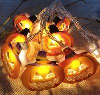 Nueva Halloween decoraciones cadena fantasma de la calabaza caja de la batería araña bate esqueleto fabricante de la lámpara de la venta directa de DHL