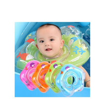 Natação do bebê Acessórios Pescoço Anel tubo de segurança infantil Float Círculo para banhos de água inflável Flamingo